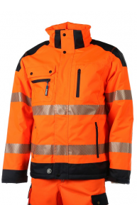 Krenger-Zermatt Jacke EN ISO 20471, orange-navy, S-5XL