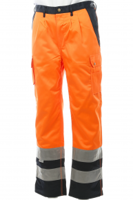 Signal-Tempra-Hose EN 20471, orange-navy, 38-64