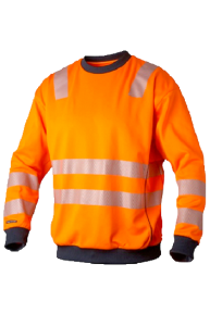 Top Swede Signal Pullover, orange-navy, S-3XL