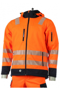 Krenger-Signal-Softshell EN ISO 20471, orange-navy, S-5XL