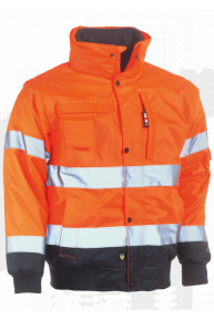 HEROCK Tarvos Jacke, orange-navy, S-3XL