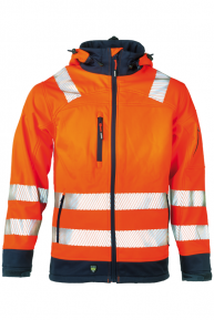 HEROCK Gregor Softshell-Jacke, orange-navy, S-3XL
